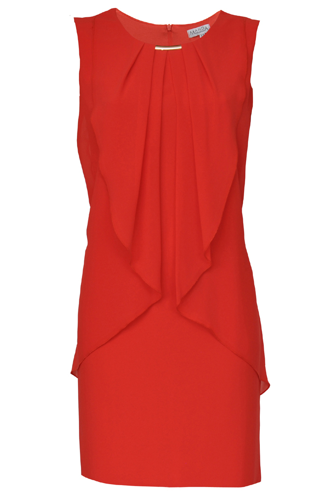 Piros muszlin ruha