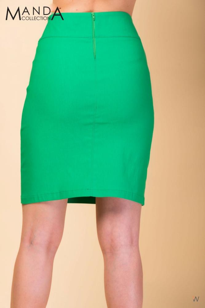 Zöld vászon szoknya