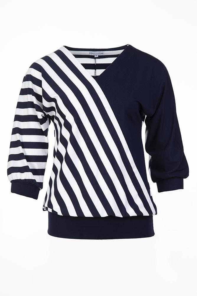 Ferde szabásvonalú kék póló